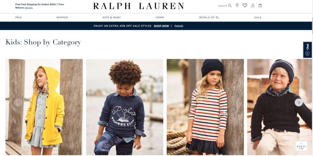 RalphLaurenのスクショ